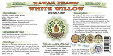 White Willow Alcohol-Free Liquid Extract, Organic White Willow (Salix Alba) Dried Bark Glycerite Natural Herbal Supplement, Hawaii Pharm, USA 2 fl.oz 2 Ounce