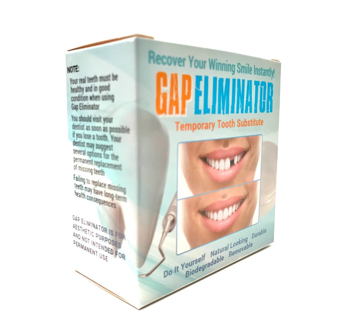 Do It Yourself Gap Eliminator Temporary Tooth Substitute With Sculpting Tool