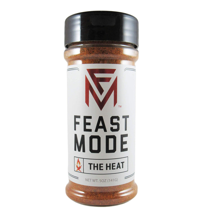 The Heat - Feast Mode Flavors - Low Sodium , No MSG , Gluten Free , All Natural , Meal Prep Seasoning , Spicy , Habanero , Ghost Pepper