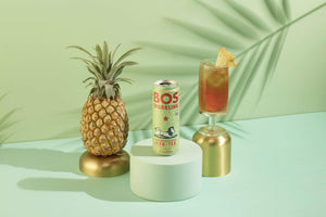 BOS Sparkling Unsweetened Iced Tea (Pineapple Coconut) Pineapple Coconut