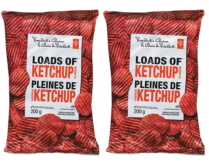 President's Choice Loads of Ketchup Flavour Chips [2 x 200g/7.1 oz] {Canadian}