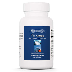 Allergy Research Group - Pancreas Pork - Natural Glandular, Digestive Support - 60 Vegicaps