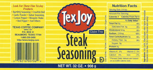 TexJoy Steak Seasoning Original Recipe 32 ounce
