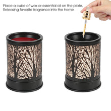 Foromans Wax Melts Candle Warmer Classic Black Metal Forest Design Fragrance Oil Warmer Lamp for Home Décor Black Forest