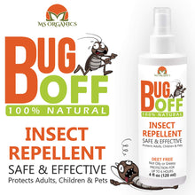 Bug Off Natural Insect Repellent Spray, Deet Free Bug Spray Protection Against Insects Made with Essential Oils (4 oz.)