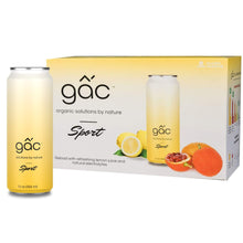 Gac | Sport + Lemon and Electrolytes | All Natural Sports Drink with Gac Superfruit | A High Antioxidant, Low Calorie, Hydrating Energy & Body Health Beverage | 8 Pack Case of 12 oz Cans