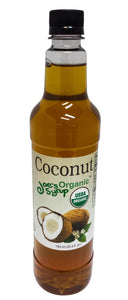 Joe's Syrup Organic Flavored Syrup, Organic Coconut, 750 ml Pack of 1