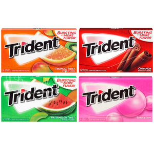 Sugar Free Gum Variety Pack Chewing Gum Including Trident, Orbit, Extra, Eclipse and Dentyne Sugarfree Chewing Gum (15 Packs)
