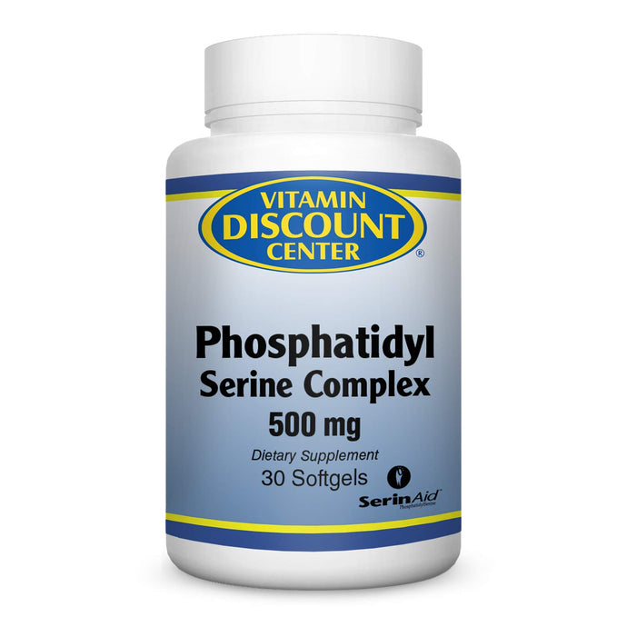 Vitamin Discount Center Phosphatidyl Serine Complex 500 mg, 30 Softgels