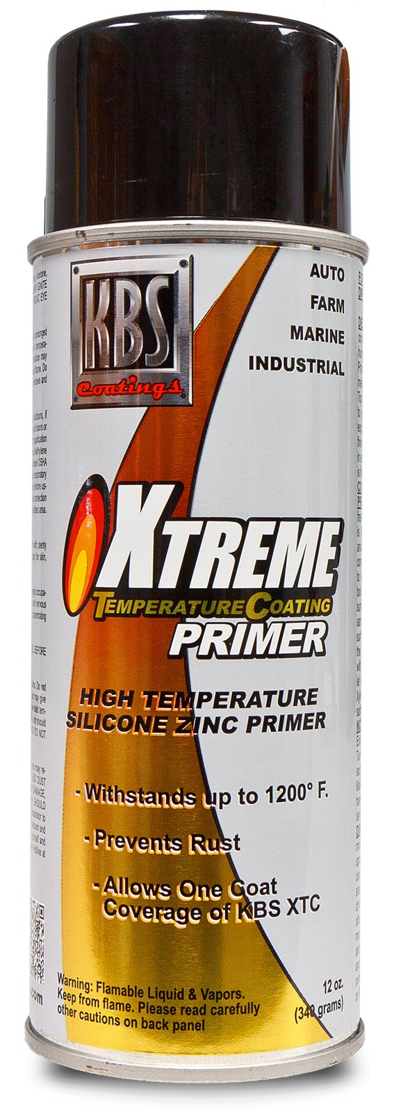 KBS Coatings 65100 Gray XTC Primer Aerosol, 12. Fluid_Ounces