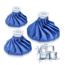 Ice Bag Packs of 3 - Reusable Hot & Cold Packs in 3 Sizes (6/9/11 inches) 3 Packs(6/9/11 Inch)