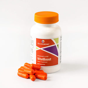 Olivamine Pinnaclife VitalBoost VitaminD3 + Magnesium Glycinate Potassium and Zinc 60 Capsules