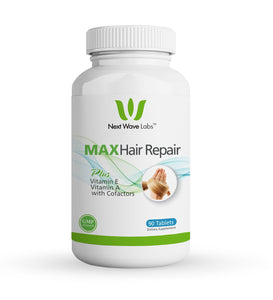Next Wave Labs Max Hair Repair, Biotin + Vitamin A, Vitamin E, Niacin, and Selenium for Hair Nourishment, Hair Strength 90 Servings