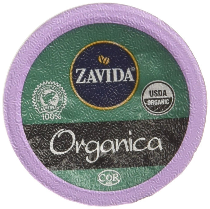 Zavida Coffee Organica Single Serve Coffee, Compatible with Keurig K-Cup Brewers, 24-Count