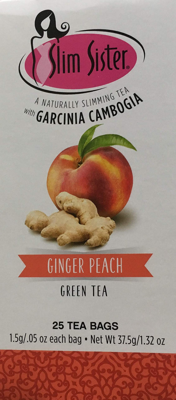 Ginger Peach Naturally Slimming Green Tea with Garcinia Cambogia, 25 tea bags