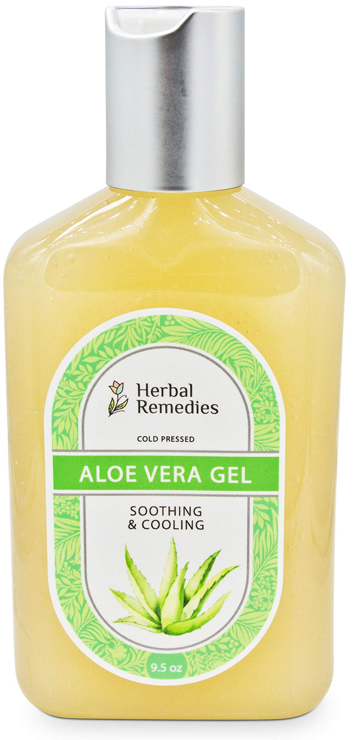 Herbal Remedies Natural Aloe Vera Gel, Moisturize and Relieve