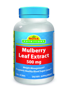 Mulberry Leaf Extract 500 mg 120 Vcaps by Nova Nutritions