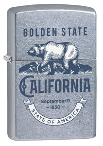 Zippo Lighter: California, The Golden State - Street Chrome 78135
