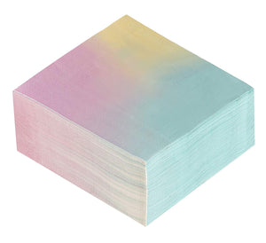 Cocktail Napkins - 150-Pack Luncheon Napkins, Disposable Paper Napkins Ombre Party Supplies for Kids Birthdays, Bridal Showers, 2-Ply, Unfolded 13 x 13 Inches, Folded 6.5 x 6.5 Inches