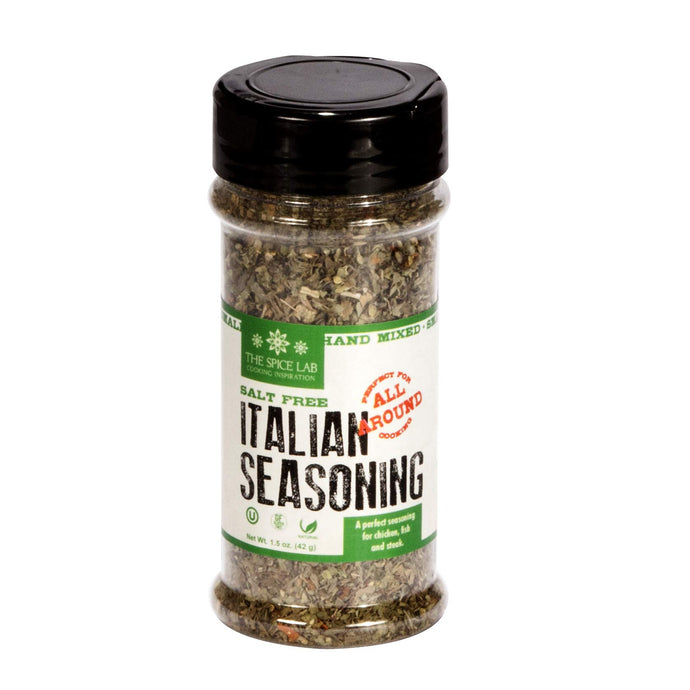The Spice Lab Salt Free Italian Seasoning - Spice Shaker Jar –1.5 oz- Excellent Pasta Sauce or Pizza Sauce Seasoning - Gluten Free No Salt All Natural - Italian Dried Herbs Blend No 5025