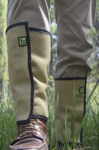 LYMEEZ 3D Mesh Tick Repelling Leg Gaiters S-thru-XL Tan