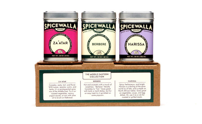 Spicewalla Middle Eastern Spices Set | Harissa Spice, Zaatar or Zahtar, Berbere, 3 Pack | Mediterranean Seasonings