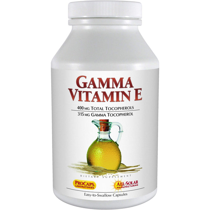 Andrew Lessman Gamma Vitamin E 30 Softgels – 315 mg Gamma Tocopherol, Protective Vitamin E. Four Forms of Natural Tocopherols with Ahiflower® Oil. Powerful Anti-oxidant. No Synthetic Forms