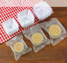 75G Moon Cake Plastic Bags Hot Seal Half Clear Cookie Candy Container 4*5.3 Inch 100 Sets