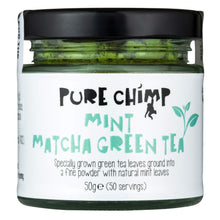 Mint Matcha Green Tea Powder 50g (1.75oz) by PureChimp - Flavoured Ceremonial Grade From Japan - Pesticide-Free - Recyclable Glass + Aluminium Lid (Mint) Mint