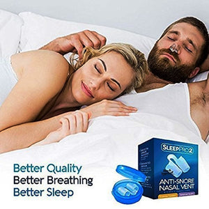 SleepPro Anti Snoring Solution Devices - 4 Snore Stopper Nose Vents - Anti-Snore Nasal Dilators - Stop Snoring Sleep Aid to Ease Nighttime Breathing (4 Sizes)