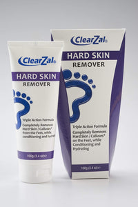 ClearZal Foot Cream for Hard Skin, Helps Calluses and Corn Removal While Leaving Soft Smooth Skin. Hydrating and Conditioning Triple Action Formula with Aloe Vera. 3.4 OZ Tube Bottle