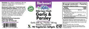 BlueBonnet Garlic and Parsley Softgels, 500 mg, 100 Count