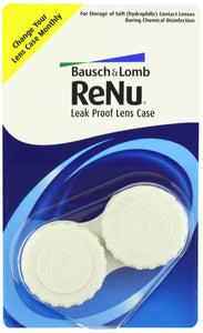 Bausch + Lomb ReNu Leak Proof Soft Eye Contact Lens Cases,6ct