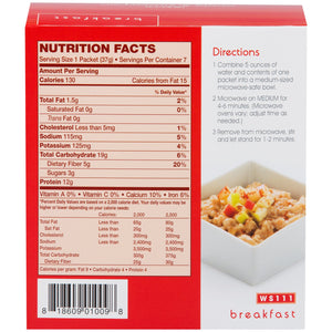 WonderSlim Apple 'n Cinnamon Flavored High Protein Oatmeal - Instant Hot Oatmeal Diet Cereal (7 Individual Servings/Box) - Low Calorie, Low Fat, Kosher