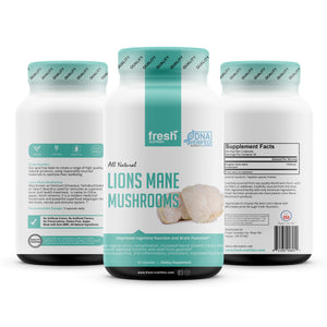 Organic Lions Mane Mushroom Capsules - Strongest DNA Verified Formula - AHCC Rich in Alpha Glucan - Powerful Superfood Supplement - Brain, Nerve & Immune System Benefits - Vegan Friendly