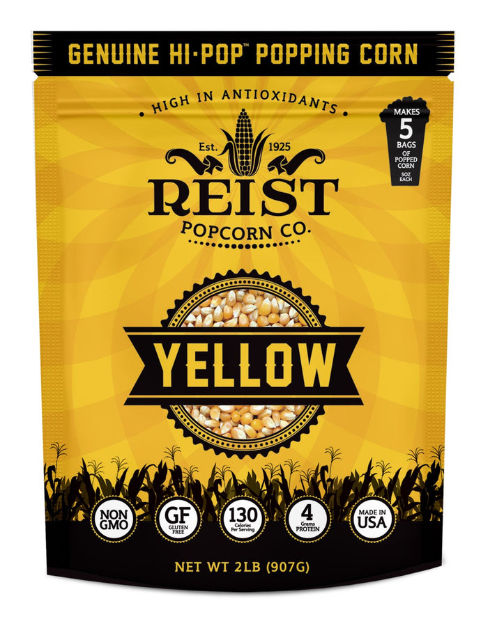 Butterfly Popcorn - 2LB Resealable Bag (Yellow, 2LB Bag) Yellow