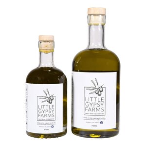 Little Gypsy Farms 🧿 Estate Grown Greek Extra Virgin Olive Oil | Healthiest Olive Variety w/High Amino Acid & 3X Polyphenols | Small Batch EVOO | First Cold-Pressed | Highest Rated | 375ml Bottle