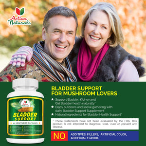 Saw Palmetto Bladder Support Supplement with Beta-Sitosterol, Pygeum, Cranberry, Pumpkin Seeds, Reishi and White Button Mushrooms for Urinary Bladder System Mushrooms Plus