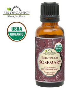 US Organic 100% Pure Rosemary Essential Oil - USDA Certified Organic, Steam Distilled - 30 ml (More Size Variations Available)