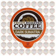 Fresh Roasted Coffee LLC, Dark Sumatra Mandheling Coffee Pods, Dark Roast, Single Origin, Capsules Compatible with 1.0 & 2.0 Single-Serve Brewers, 72 Count