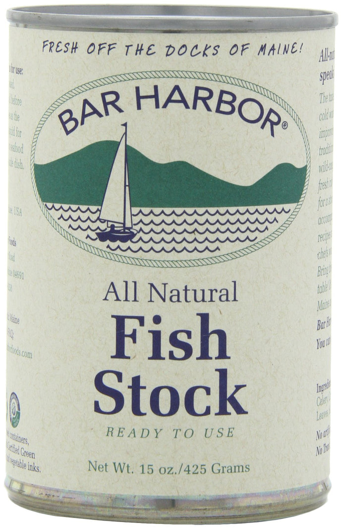 Bar Harbor Stock, Fish, 15 Ounce (Pack of 6) (PACKAGING MAY VARY) 15 Ounce (Pack of 6)