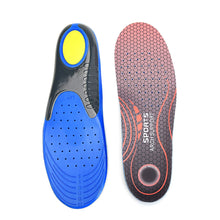 DOGDAN Athletic Cushioning Comfort Gel Shoe Insoles for Men - Advanced Arch Support Shoe Inserts for Everyday Use 8-13 US [1 Pair] Red