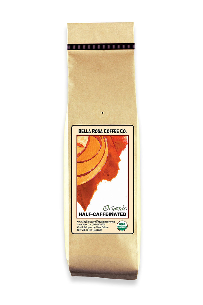 Organic Half-Caffeinated, 16 oz. Whole Bean