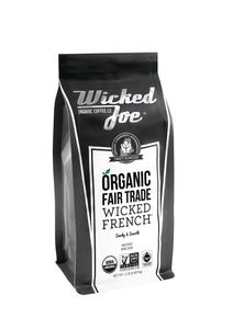 Wicked Joe Organic Coffee Fair Trade Organic Whole Bean, French, 2 Pound