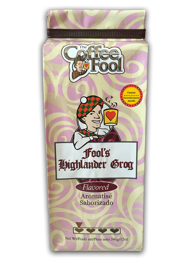 The Coffee Fool Coarse Grind Coffee, Fool's Highlander Grog, 12 Ounce
