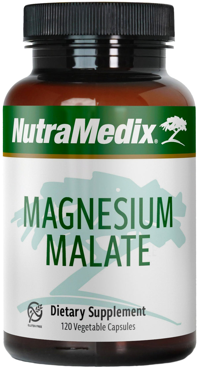 NutraMedix Magnesium Malate 200mg - Energy & Detox Support with Bioavailable Magnesium Capsules (120 Vegetarian Capsules) 120 Count