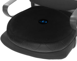 Swell Relief Stability Balance Wobble Cushion Core Trainer for Home or Office Desk for Lumbar Support Exercise and Fitness (Black) Black