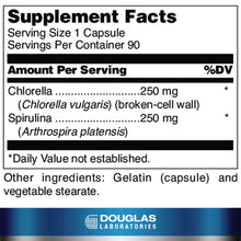 Douglas Laboratories - Chlorella Plus - Freeze-Dried Chlorella and Spirulina to Support Proper Detoxification and Immune Function - 90 Capsules Standard Packaging