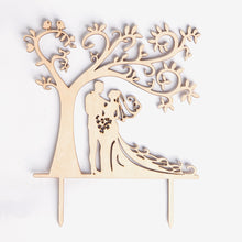 LOVENJOY Silhouette Wedding Cake Topper Bride and Groom with Love Birds, Gift Boxed