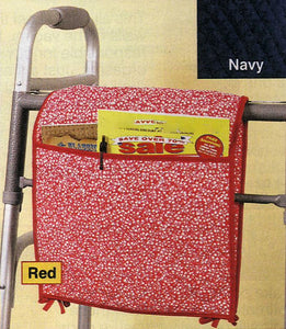 28'' Quilted Walker/Wheelchair Bag - Red Floral
